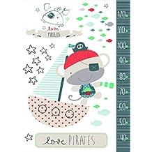 Pirulos 54213320 - Vinilo, 100 x 70, diseño pirate, color blanco y gris