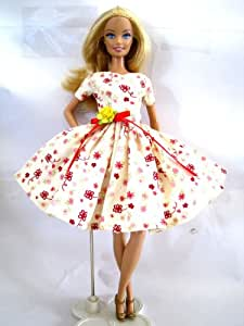 Barbie Doll Dresses Barbie Clothes Fashion Vintage Handmade SET