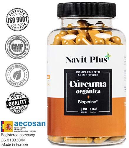 Curcuma biologica 745 mg con BioPerina® Integratore Nº 1 nella Curcuma in capsule. Antiossidante naturale. Curcuma biologica in compresse 100{fa61ced23978e758cb3a44d633a9f43e90a77b09bf00ffde72004667bafa8d9b} naturale.
