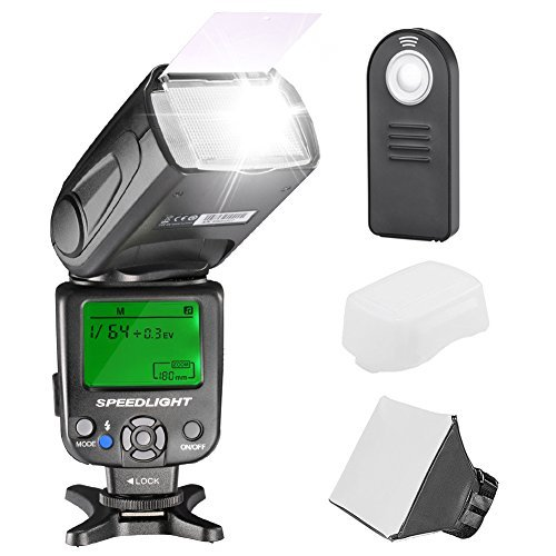 Neewer Kit di NW620 Flash Manuale Speedlite per Canon Nikon Sony Pentax DSLR Fotocamera IncludiNW620 GN58 FlashDiffusore Morbido/DuroTelecomando 4 1