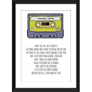Fiona Apple Criminal Lyrics - Unframed Print / Ungerahmter Druck