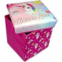 Mädchen rosa Einhorn Spielzeug Aufbewahrungsschachtel & gepolstert Schlafzimmer Hocker Ottomane preisvergleich bei kinderzimmerdekopreise.eu