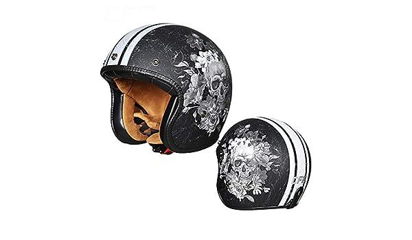 gaeruite Motorcycle Half Helmet Retro Motorcycle Half Open Face Helmet Protection Shell Helmet for Men