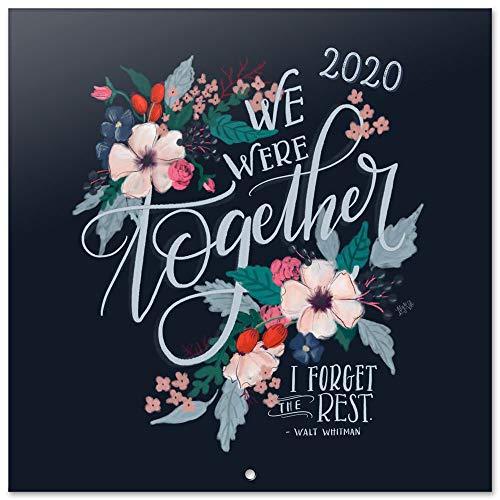 Erik® - calendario 2020 da muro lily & val. licenza ufficiale, 30x30 cm, 12 mesi