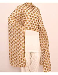 Beautiful Elegant Designer Phulkari Dupatta In Chiffon Fabric In Orange Colour - Phulkari Dupatta