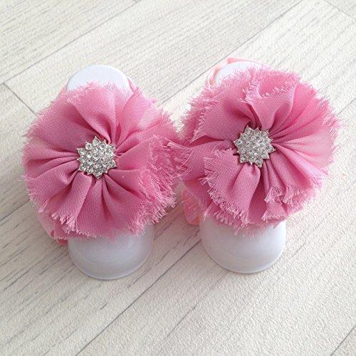Ensemble couvres pieds modèle Froufrou plat Vieux rose