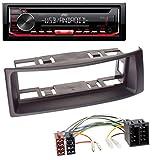 caraudio24 JVC KD-T402 USB AUX MP3 1DIN CD Autoradio für Renault Megane Scenic bis 03 schwarz