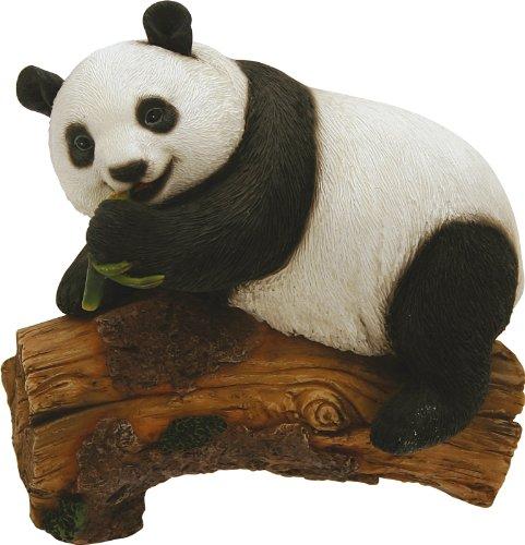 Panda sur tronc, hauteur 12,5 cm