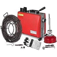Cueffer Máquina Eléctrica de Limpieza de Drenaje 220V 250W/700W Máquina de Dragado de Tuberías Máquina de Limpieza de Alta Presión Desbloqueador de Ducha (Q100AA)