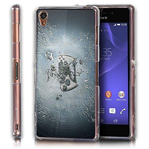 Abstrakt 10121, Playstation, Das Kristallklare Ultradünn Gel Crystal Silikon Handyhülle Schutzhülle Handyschale mit Strukturierte Design für Sony Xperia Z3