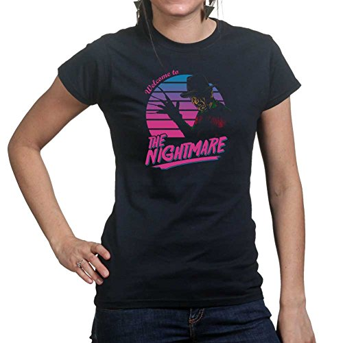 Customised_Perfection Womens Welcome To The Nightmare Halloween Ladies T Shirt (Tee, Top)