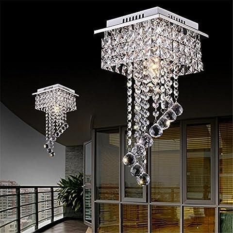 FYN® Modern simplicity European LED Square Corridor corridor crystal Living