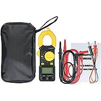 Fesjoy - Pinza de medición digital, amperímetro, 4000 cuentas, medición de rango de