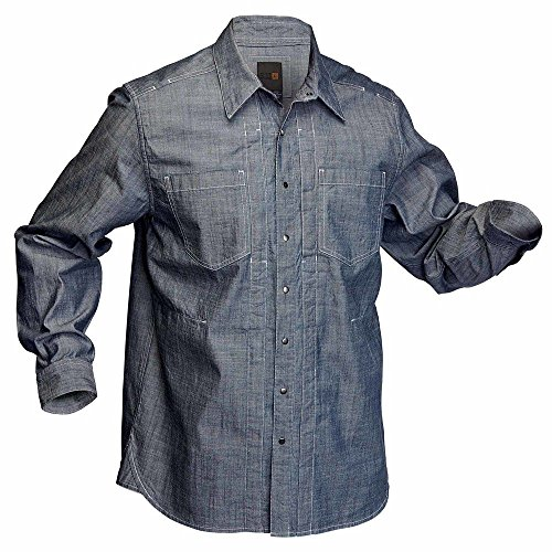 5.11Herren Chambray Long Sleeve Shirt indigo