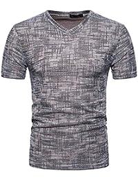 LUCKDE Sportshirt Herren Kurzarmshirts Männer Freizeithemd Herren Kurzarm  Pullover Herren Hemd Slim Fit Poloshirts für Herren Fitness… 793e325917