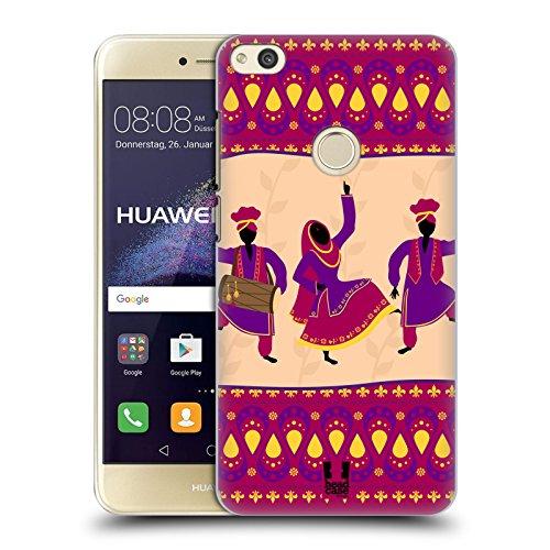 Head case designs indiano danze etniche cover retro rigida per huawei p8 lite (2017)