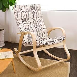 SoBuy® Sedia a dondolo,poltrona oscillante,Sedia relax, colorato,FST15-SW,IT