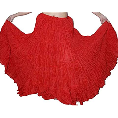 wevez Falda de danza del vientre algodón y 12Yard