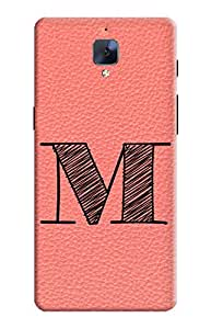KanvasCases Cover for one plus 3 - alphabet collection m