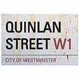 personalisierbar Familienname London Road Schild: Quinlan Street
