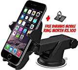 #4: Interio Quick Touch One Adjustable Car Windshield/Dashboard/Working Desk Mount for Phones upto 2.3 - 3.2 inches, 3rd Generation (Black)