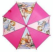 """Pratico e comodo ombrello della famosa Principessa Sofia. L'ombrello ideale per le uscite di casa durante le giornate di pioggia, le sue dimensioni lo rendono alquanto pratico. La sua struttura è formata da un manico a forma di """"U"""" che permet..."""