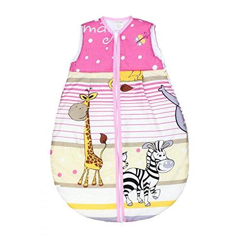 TupTam Baby Unisex Schlafsack Ärmellos Wattiert, Farbe: Imagine Rosa, Größe: 80-86