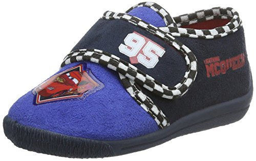 cars-jungen-boys-kids-velcro-low-houseshoes-flache-hausschuhe-blau-cbu-nav-red-387-20-eu