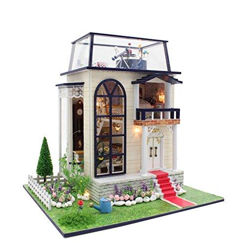 LINAG Puppenhaus Häuser Minipuppen Mini-Szene Zuhause Einrichtung Spielzeug Möbel DIY Village Zubehör Szenenspielzeug Gebäudemodell Geburtstagsgeschenk Doll-6126