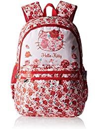 77ddb1e0fa Hello Kitty Nylon 43 cms Red and White Children s Backpack (Age group  6-