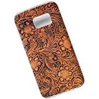 Slim Case for Samsung Galaxy S7. Tasche Cover. Tooled Leather Pattern.