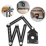 Jian Ya na angleizer Vorlage Werkzeug Full Metal kratzfest Multi-Funktionalität Lineal Aluminium Legierung Easy Angle Mess-Werkzeug für Builders Dachdecker dachdeckern Heimwerker Handwerker