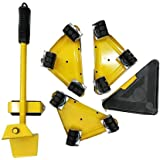 Meubellifter met 4 Pack bewegende schuifregelaars, meubels bewegende rolset, zware meubels rolverplaatsingsgereedschap, max v