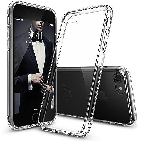 Funda iPhone 7, Ringke [FUSION] Crystal Clear Volver PC TPU de Parachoques [Gota de Protección / Choque Tecnología de la Absorción] Criado Biseles de la Funda Protectora para Apple iPhone 7 2016 - Crystal View