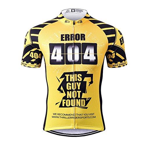 Thriller Rider Sports® Herren Error 404 Sport & Freizeit MTB Fahrradbekleidung Radtrikot 3X-Large