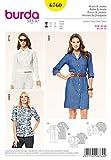 Patron de couture Burda Mesdames facile 6760–Chemise, Veste et robe pour femme