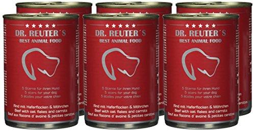 Dr. Reuter's Hundefutter Rind mit Haferflocken und Möhrchen, 6er Pack (6 x 400 g) - 2