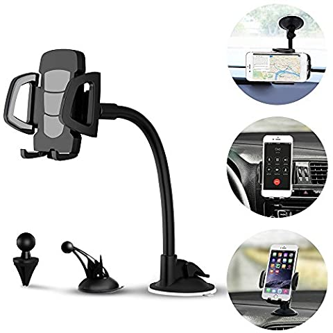 """3-in-1 Universal KFZ Handyhalterung, Vansky® Auto Handy Halter   Lüftungshalter, Armaturenbrett-Halterung und Windschutzscheibenhalterung für Smartphone oder GPS-Gerät mit 3.5""""-7"""""""
