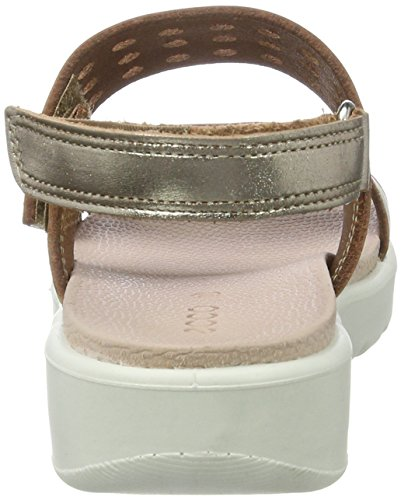 Ecco Ecco Fay, Sandales  Bout ouvert fille Gold (2091GOLD)