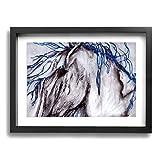 GYXWCNM Peinture sur toile encadrée Motif cheval abstrait 30 x 40 cm Cadeau parfait Nouvel An pour la cuisine ou la chambre, Noir, Taille unique