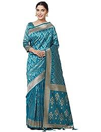 SareeShop Women's Kanjivaram Cotton Silk Saree For Women Latest Design 2018 With Blouse Piece (Apple-3111-SAREESHOP15...