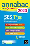 Annales Annabac 2020 SES Tle ES Spécifique & spécialités: sujets et corrigés du bac Terminale ES...