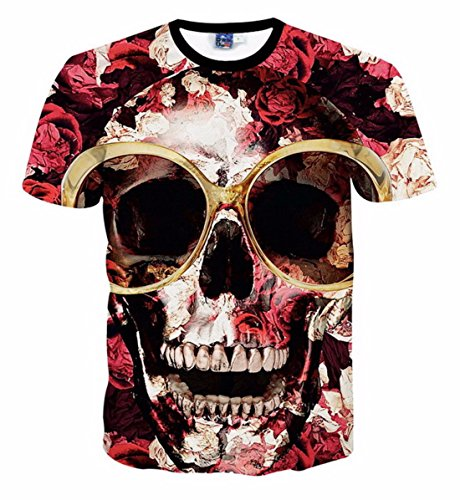 Men's 3D Both Sides Printed Short Sleeves Tee Shirt MODELS AS PICTURE 5