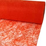 25m Sizoflor® Original Tischband Tischläufer 30cm, Farbe:orange