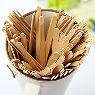 Aliciashouse 100Pcs Disposable Coffee Wooden Stir Stick Tea Stir Sticks