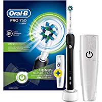 ‏‪Oral-B Pro 750 Electric Rechargeable Toothbrush Powered by Braun - Black‬‏
