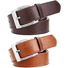Hob London Fashion With Device Tan & Brown Combo Belt For Men (HLF_BLT_BR_TN 001)