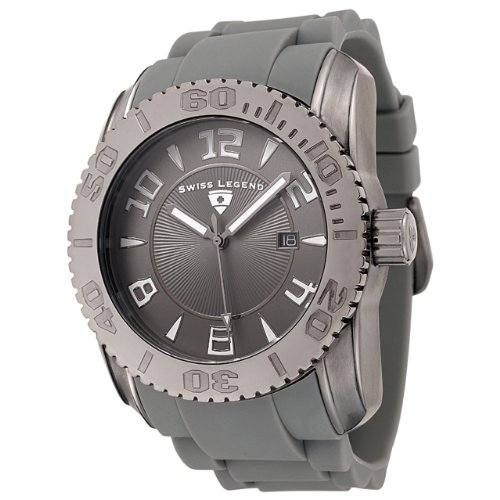Swiss Legend Men's 20068-GM-12 Commander Collection Gunmetal Ion-Plated Gray Dial Watch