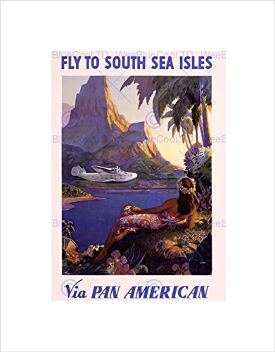 travel-tourism-south-sea-islands-plane-tropic-pan-am-framed-art-print-b12x11377