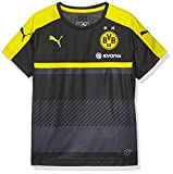 PUMA Kinder T-shirt BVB Training Jersey with Sponsor, black-cyber yellow, 176, 749845 02
